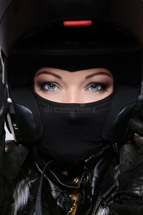 Motor-Dame stockbild