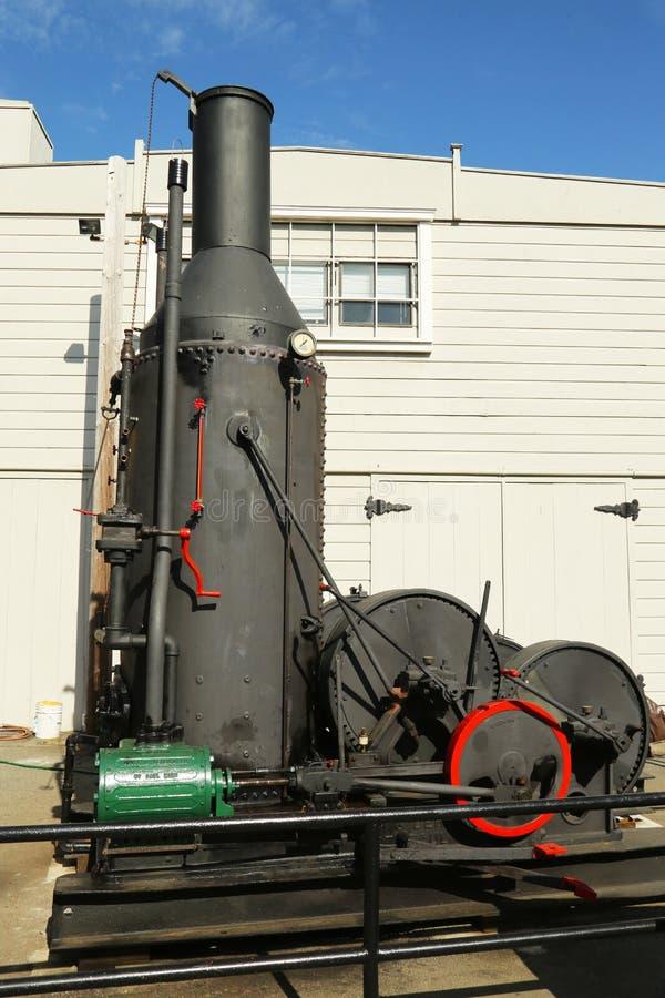 motor de asno do vapor dos anos 20 em San Francisco Maritime National Historical Park imagens de stock