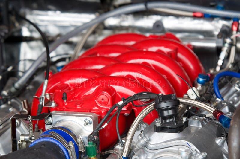 Motor de automóveis da competência de V8 imagens de stock royalty free