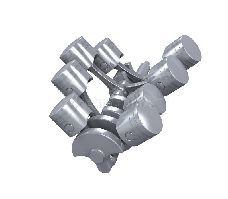 Motor de automóveis de V8 foto de stock
