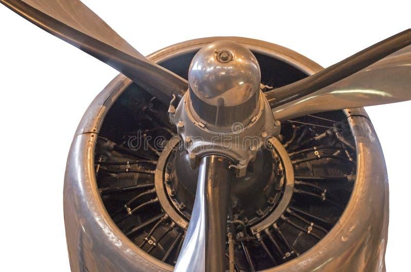 Motor de avión radial con el propulsor imágenes de archivo libres de regalías