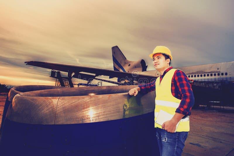 Motor de aviões velho imagens de stock