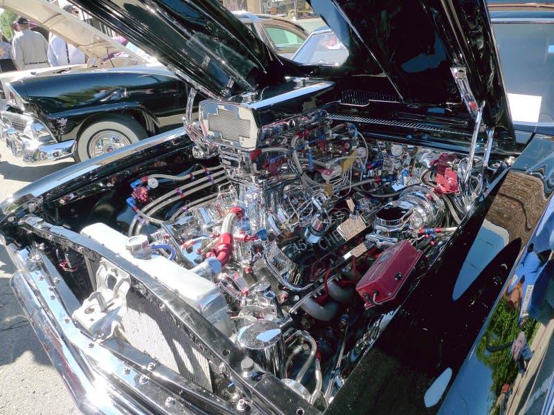 Motor de Chevy SS 454 en la demostración de coche fotografía de archivo libre de regalías