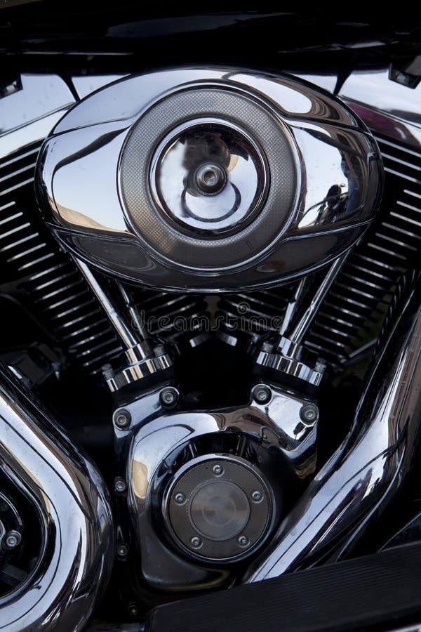 Motor de Chrome foto de archivo libre de regalías