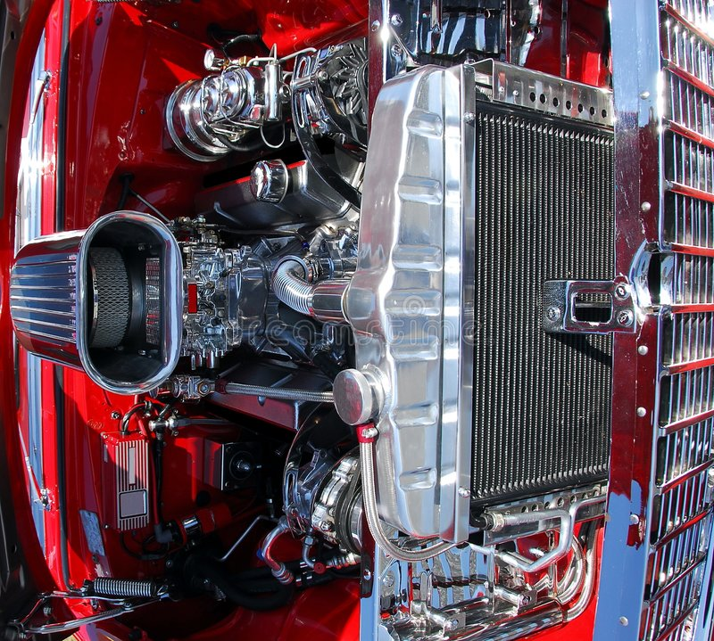 Motor de coche clásico imagen de archivo