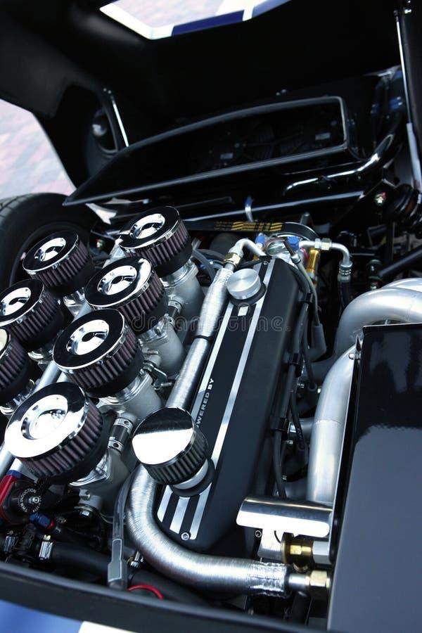 Motor de coche de deportes foto de archivo libre de regalías