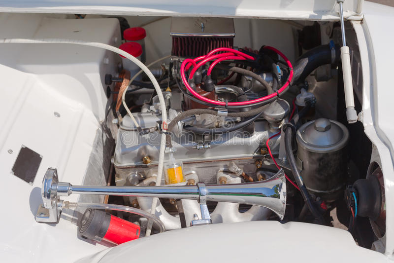 Motor de coche retro fotografía de archivo libre de regalías