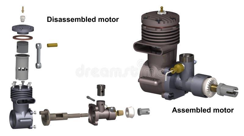 Motor de combustión interna stock de ilustración
