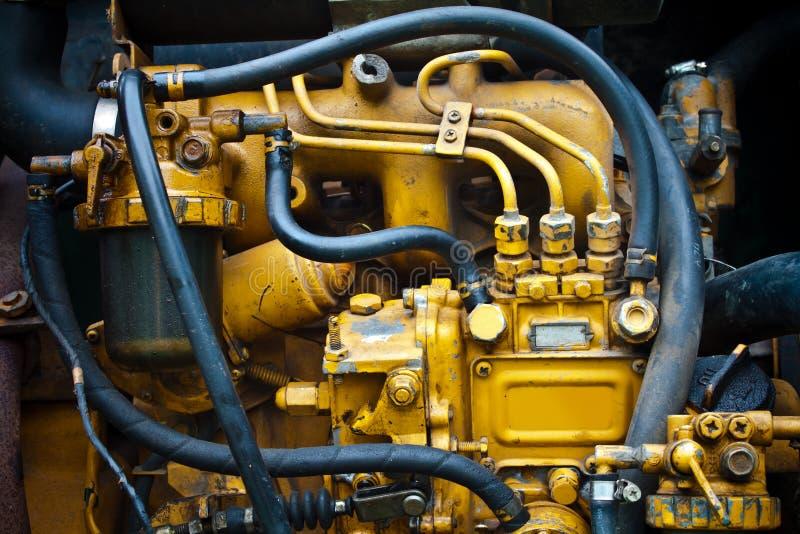 Motor de diesel imagens de stock