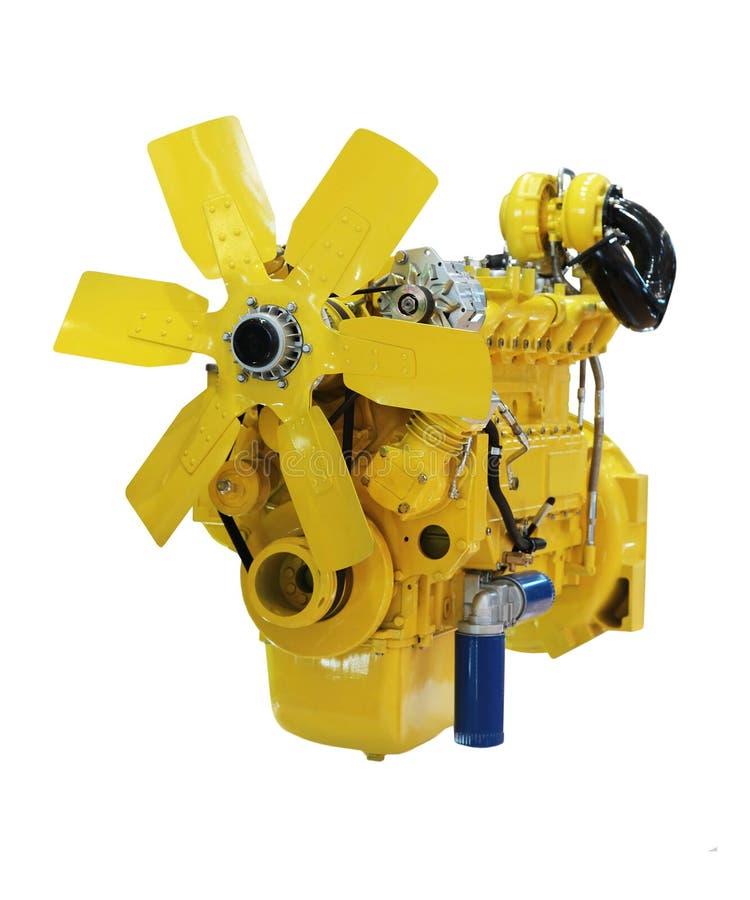 Motor de diesel amarelo fotos de stock royalty free