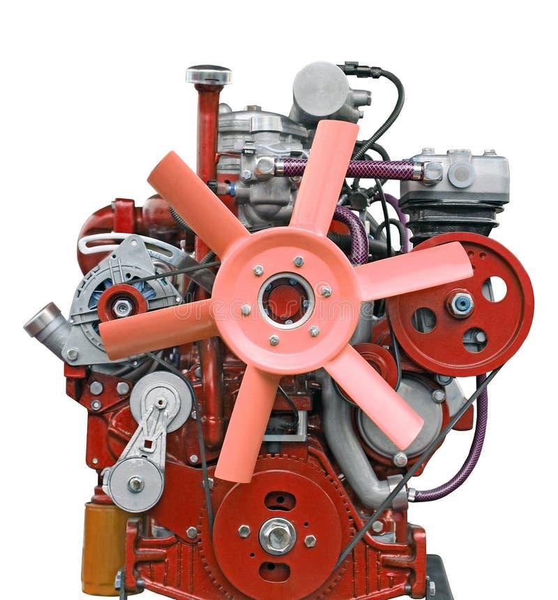 Motor de diesel cor-de-rosa fotografia de stock