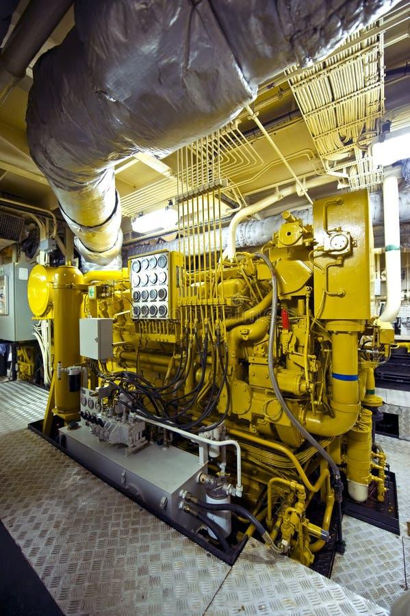 Motor de diesel do Tugboat foto de stock royalty free
