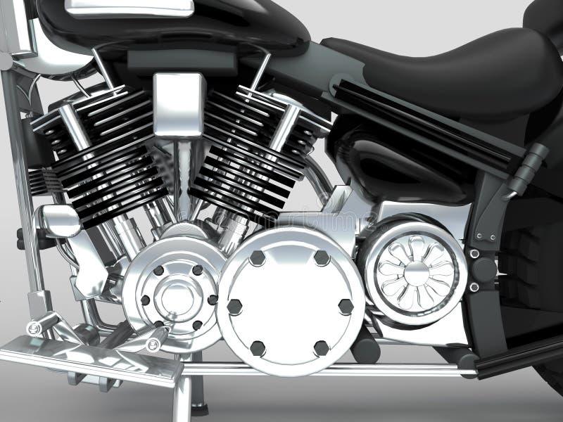 Motor de encargo del primer de la motocicleta fotografía de archivo libre de regalías