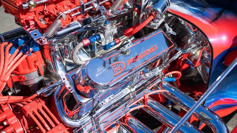 Motor de Ford do hot rod fotografia de stock royalty free