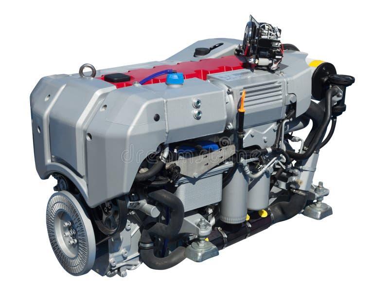 Motor de gran alcance Aislado sobre blanco fotografía de archivo