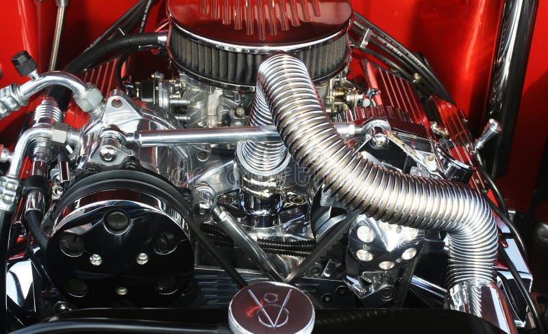 Motor de Hotrod fotografía de archivo