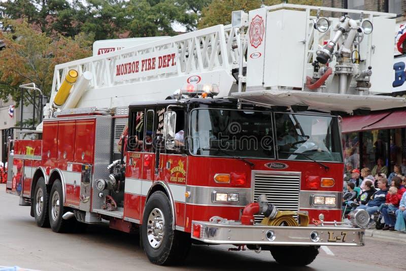 Motor de incêndio municipal foto de stock