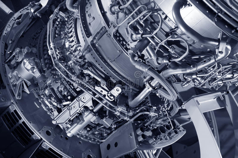 Motor de jato fotografia de stock