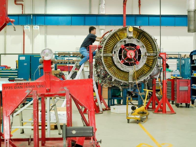 Motor de jet foto de archivo
