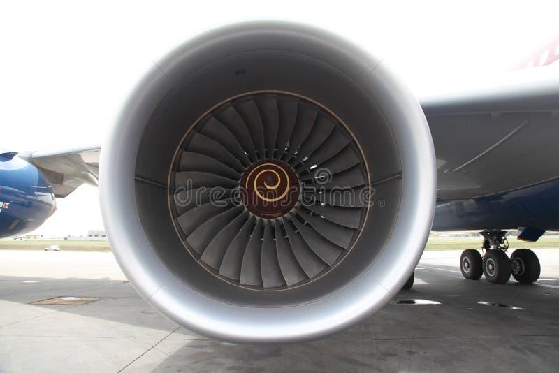 Motor de jet grande fotografía de archivo libre de regalías