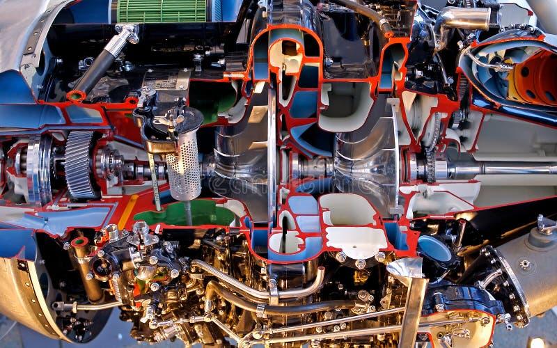 Motor de jet interior fotografía de archivo libre de regalías