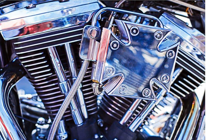 Motor de la moto foto de archivo