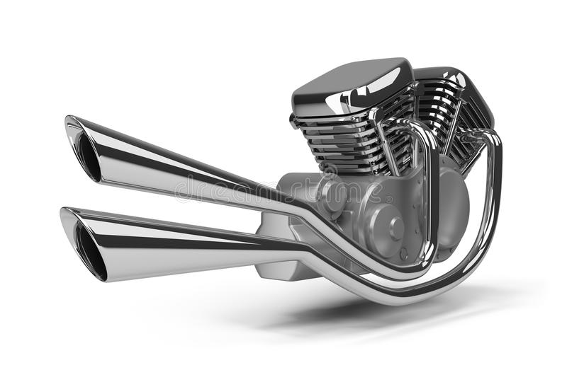 Motor de la motocicleta ilustración del vector