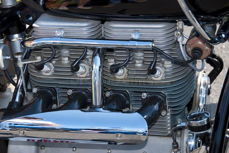 Motor de la motocicleta del cilindro del indio 4 foto de archivo