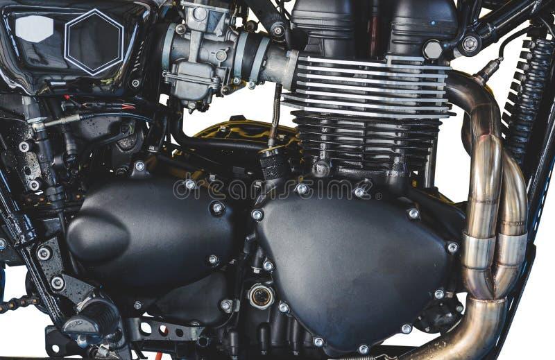 Motor de la motocicleta del detalle foto de archivo libre de regalías