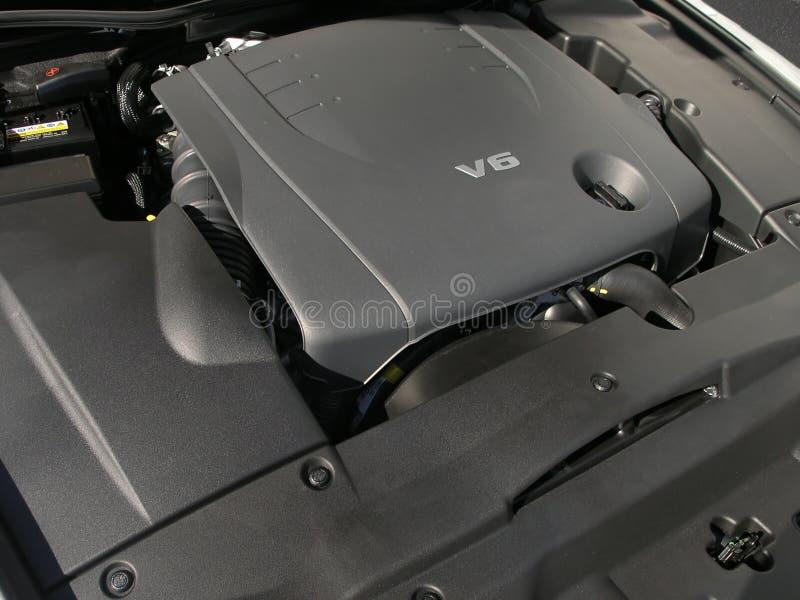 Motor de lujo del coche v6 fotos de archivo