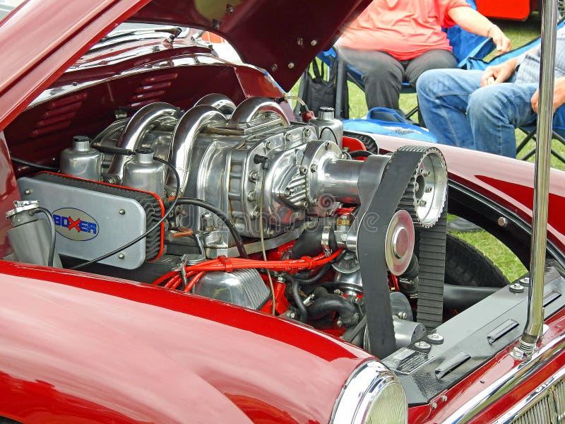 Motor de menor importancia de morris turbo del vintage imagen de archivo