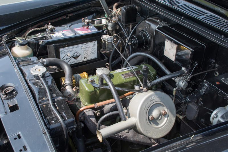 Motor de Morris Oxford imagenes de archivo