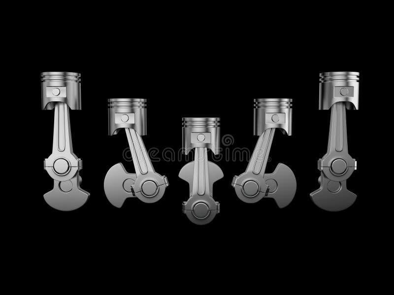 Motor de pistón ilustración del vector