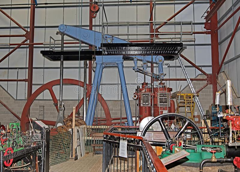 Motor de tração restaurado do vapor, na granja Musuem de Markham, Doncaster imagens de stock
