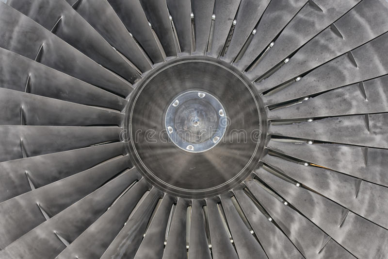 Motor de turbina de Jet Airplane imagenes de archivo