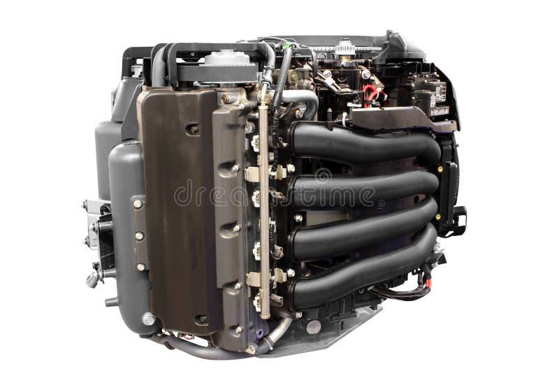 Motor de turbo del yate aislado fotografía de archivo libre de regalías