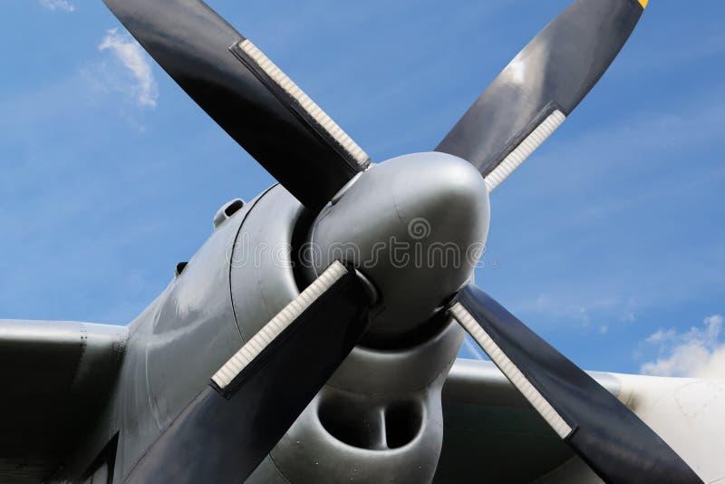 Motor de turbopropulsor del aeroplano fotografía de archivo
