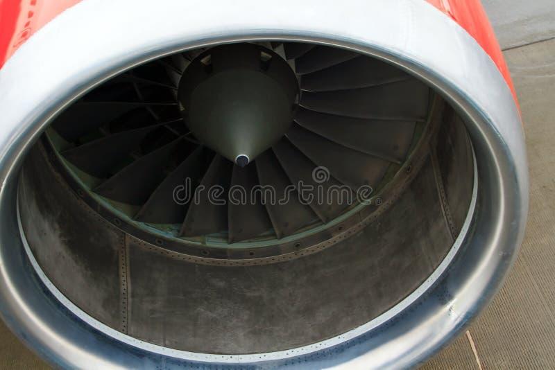 Motor de turborreactor del cierre del avión para arriba imágenes de archivo libres de regalías