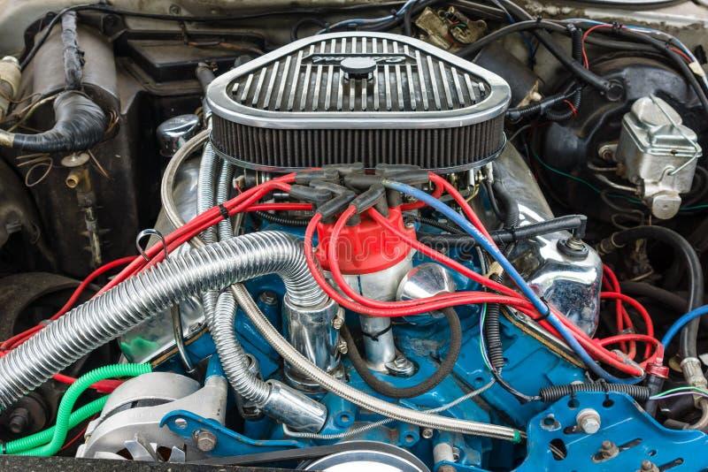 Motor de um close-up de Ford Thunderbird fotos de stock