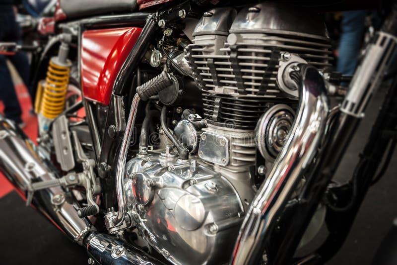 Motor de um velomotor poderoso fotografia de stock