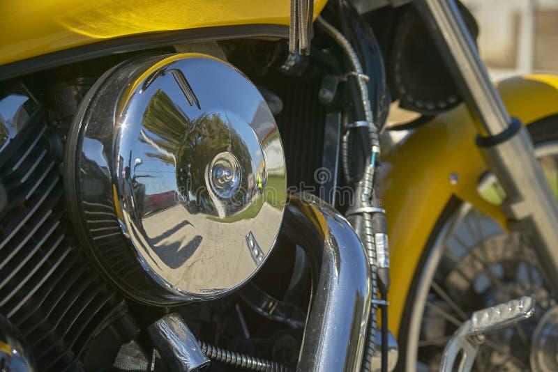 Motor de uma bicicleta feita sob encomenda foto de stock