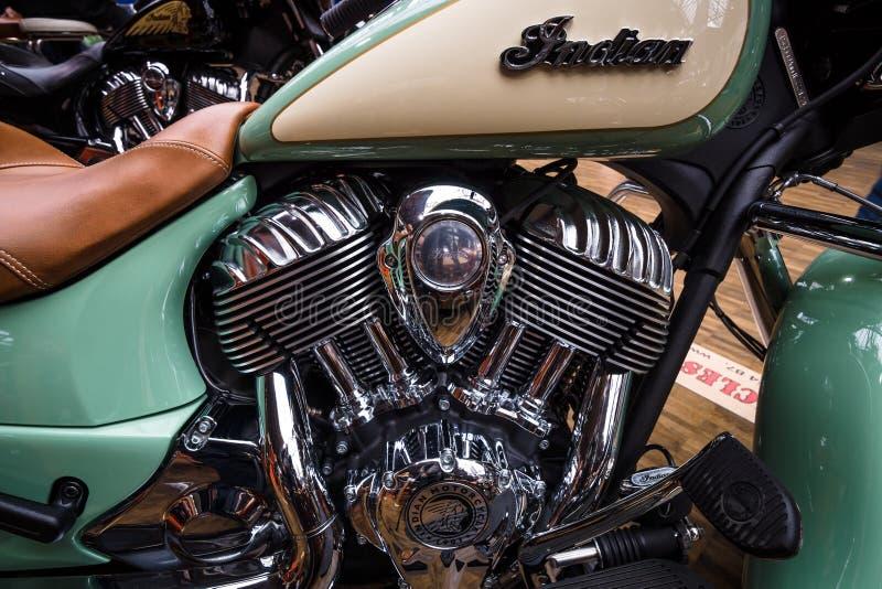 Motor de un primer de la obra clásica del jefe indio de la bici imágenes de archivo libres de regalías