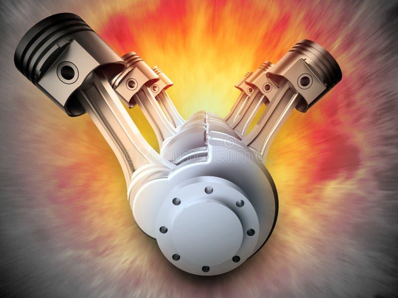 Motor de V8 stock de ilustración