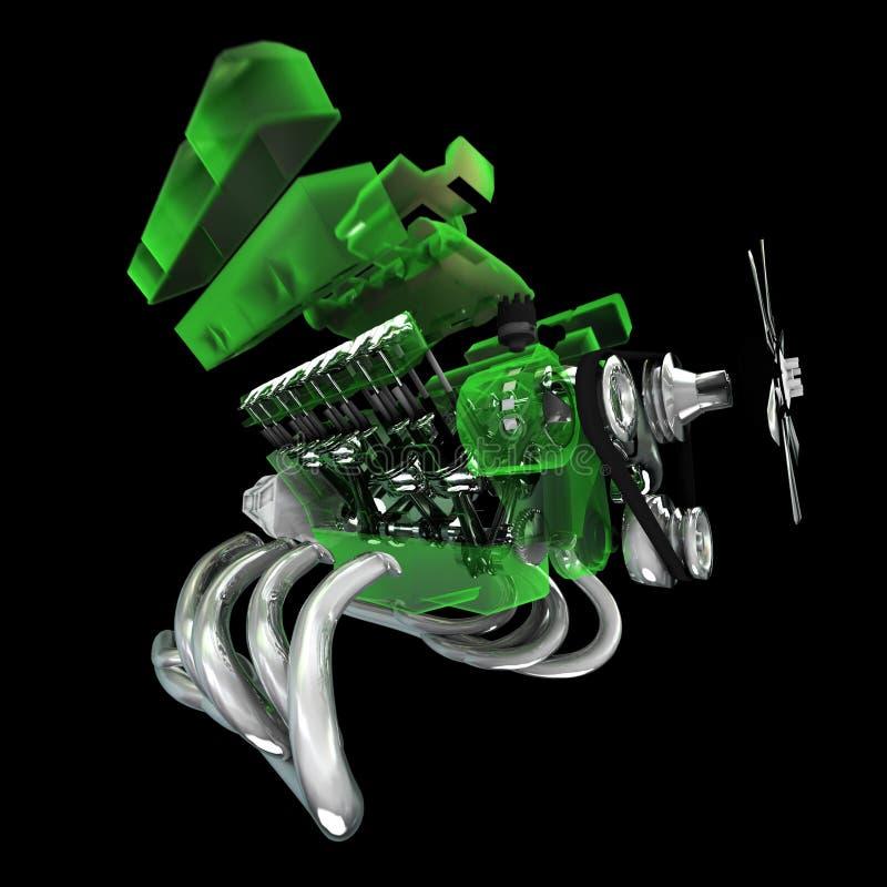 Motor de V8 ilustração do vetor