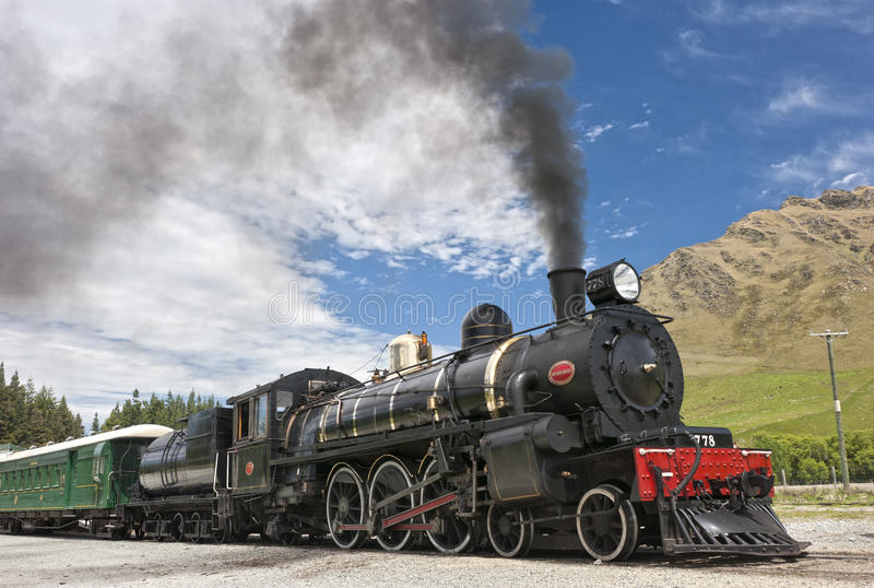 Motor de vapor de la vendimia imágenes de archivo libres de regalías