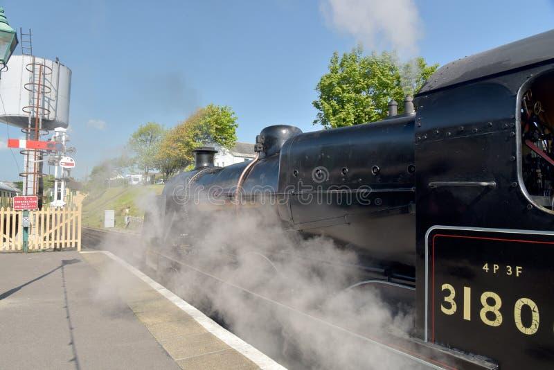 Motor de vapor na estrada de ferro restaurada de Swanage fotos de stock royalty free