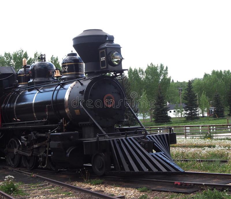Motor de vapor restaurado fotografia de stock