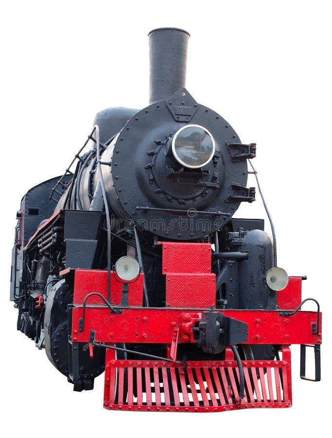 Motor de vapor (retro) viejo (locomotora). imagenes de archivo