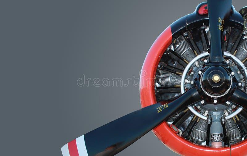 Motor del aeroplano fotos de archivo