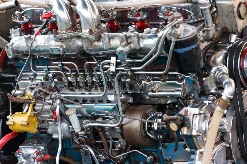 Motor del barco de Longtail imagenes de archivo